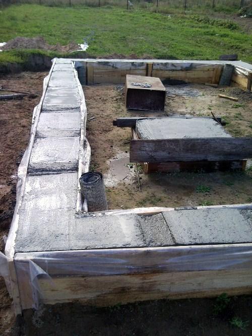 Результат заливки бетона