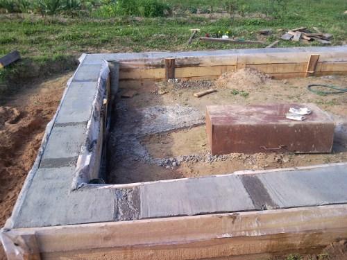 Результат заливки бетона в опалубку