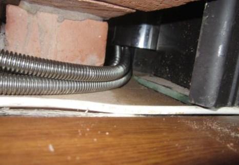 Нагревательные трубки на входе в печь, вид снизу