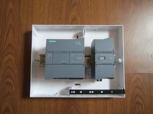 S7 1200 Монтаж контроллера на DIN рейку