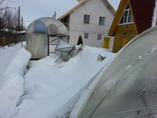 Предыдущая Теплица сломалась от снега